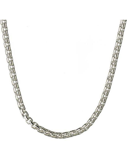Links of London | Metallic Sterling Silver Box Belcher Chain | Lyst