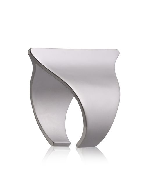 Yael Salomon | Metallic Sharp 08 Gunmetal Ring | Lyst
