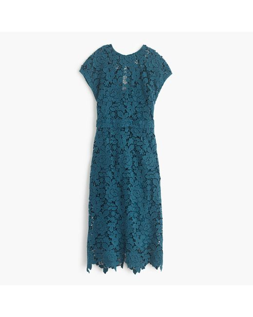 J.Crew | Green Collection Scalloped Lace Dress | Lyst