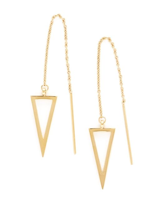 Rebecca Minkoff | Metallic Triangle Threader Earrings | Lyst