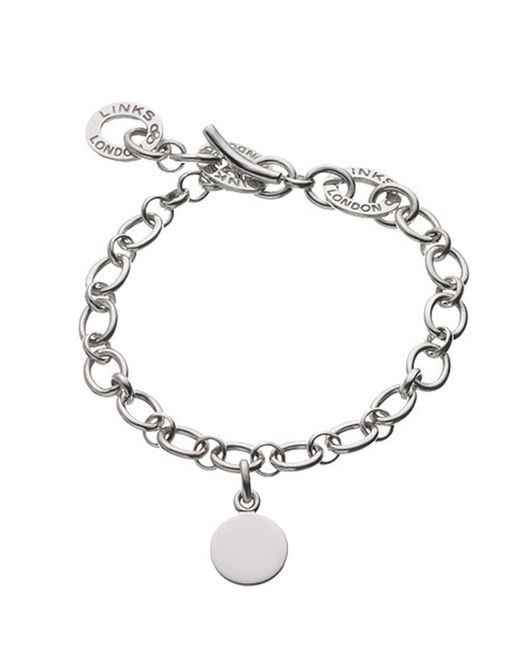 Links of London | Metallic Baby Disc Charm Bracelet | Lyst