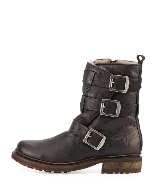 Frye Valerie Shearling Lined Boot In Black Save 41 Lyst