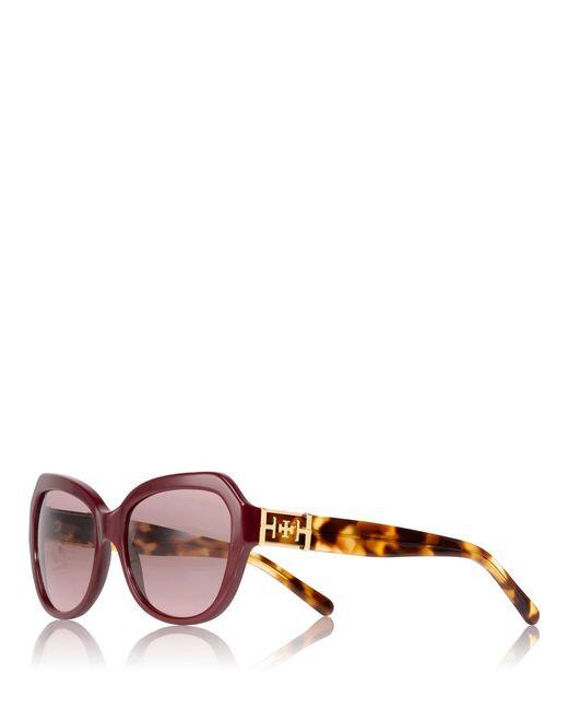 Tory Burch | Purple Geo Cat-eye Sunglasses | Lyst