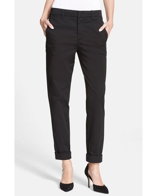 VINCE | Black Boyfriend Trousers | Lyst