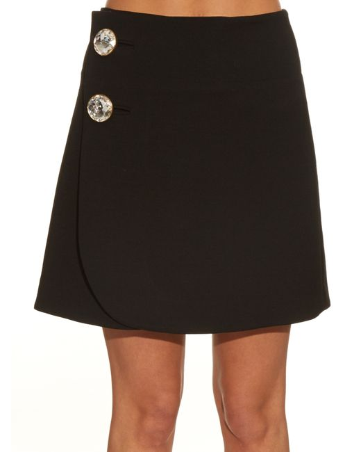 Marni | Black High-waisted Wool Mini Skirt | Lyst