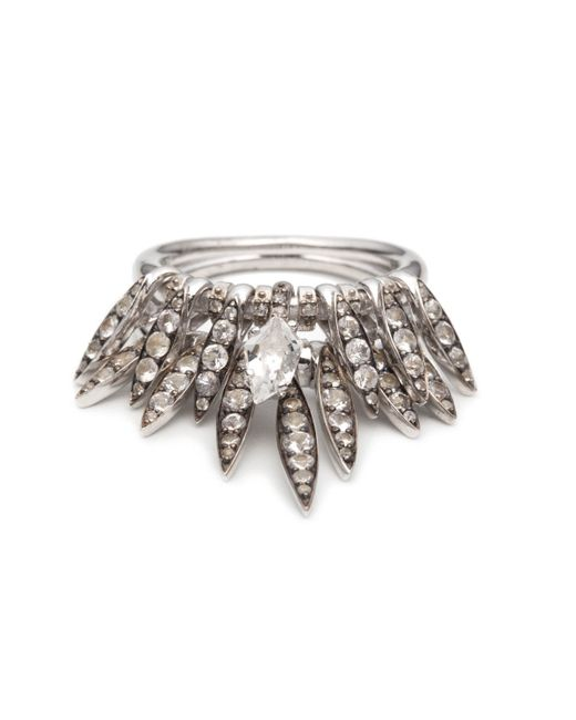 Alexis Bittar | Metallic White Sapphire And Clear Quartz Fringe Ring You Might Also Like | Lyst