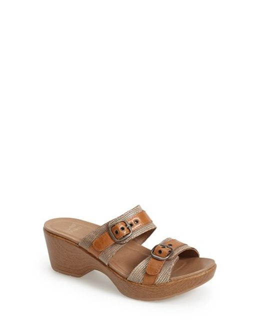 Dansko   Natural 'jessie' Double Strap Sandal   Lyst