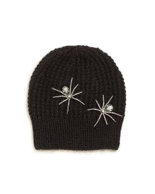 Jennifer Behr | Black Double Spider Merino Wool & Silk Beanie | Lyst