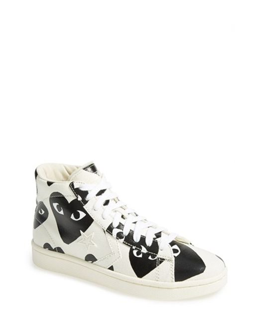 Comme des Garçons | Black Play X Converse Chuck Taylor High Top Sneaker | Lyst