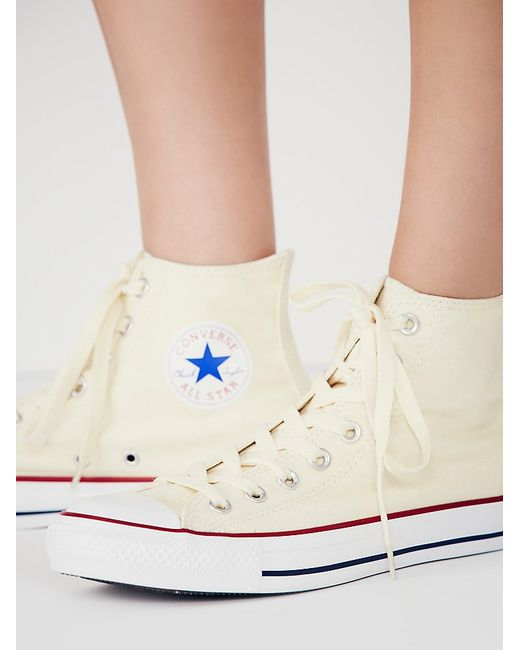 Free People | Yellow Charlie Hi Top Converse | Lyst