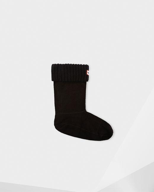 Hunter | Black Original Six-stitch Cable Short Boot Socks | Lyst
