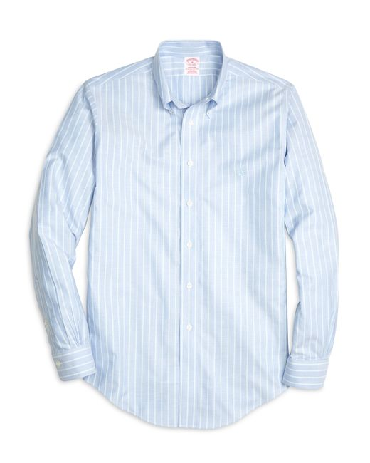 Brooks Brothers | Blue Non-iron Madison Fit Stripe Sport Shirt for Men | Lyst