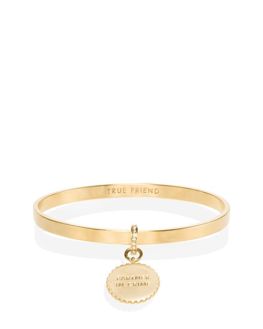 kate spade new york | Metallic Say Yes Scalloped Partners In Crime Bangle | Lyst