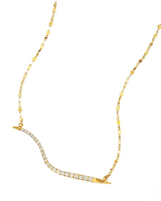 Lana Jewelry | Metallic 14k Electric Wavelength Diamond Necklace | Lyst