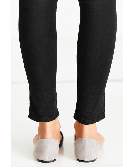 Urban Outfitters | Gray Suede D'orsay Flat | Lyst
