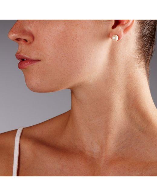 John Lewis | White Faux Pearl Stud Earrings | Lyst