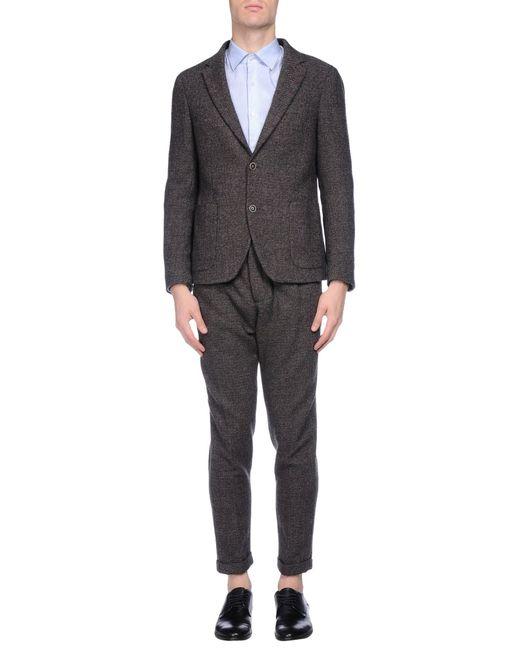 Atelier scotch suit in brown for men dark brown lyst for Atelier maison scotch