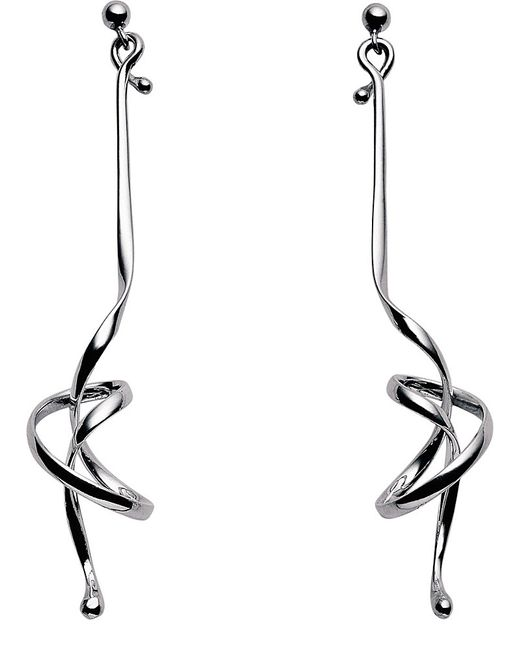 Georg Jensen | Metallic Forget Me Knot Sterling Silver Earrings | Lyst