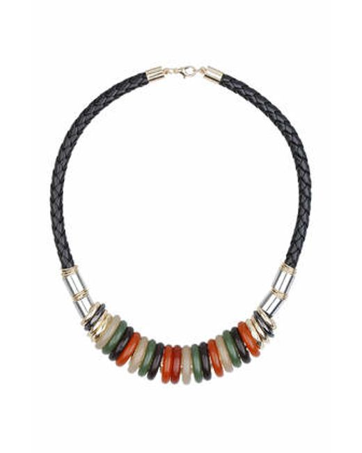 TOPSHOP | Multicolor Resin Ring Necklace | Lyst