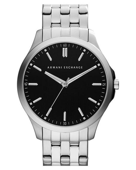 Armani Exchange   Metallic Round Bracelet Watch for Men   Lyst