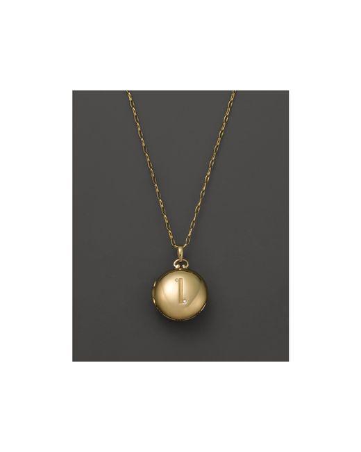 "Monica Rich Kosann | 18k Yellow Gold Petite Diamond Initial Locket Necklace, 30"" | Lyst"