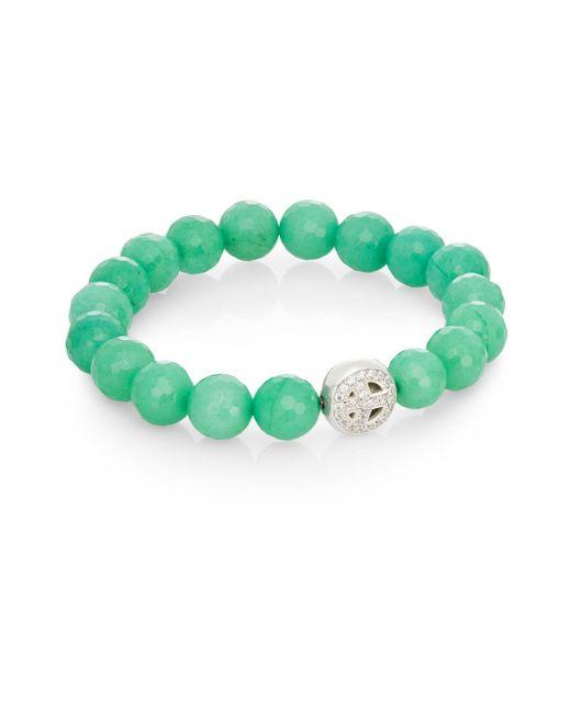 Anzie | Green Boheme Jade & Sterling Silver Bracelet | Lyst