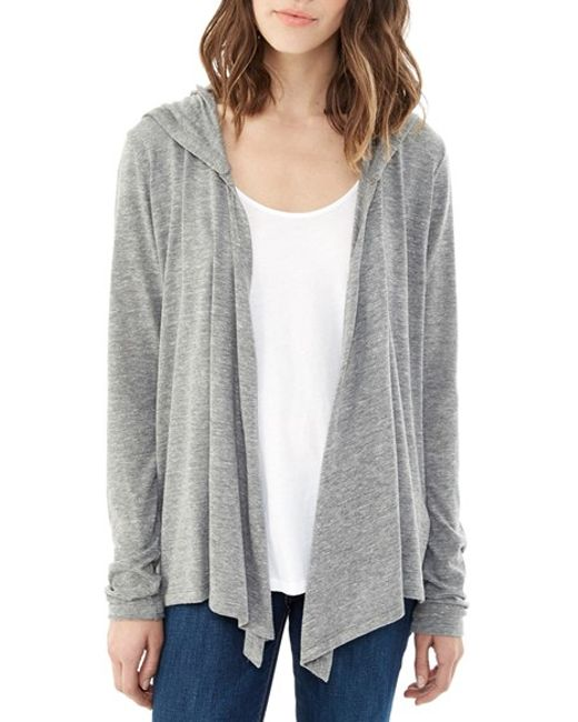 Alternative Apparel | Gray Hooded Jersey Wrap | Lyst