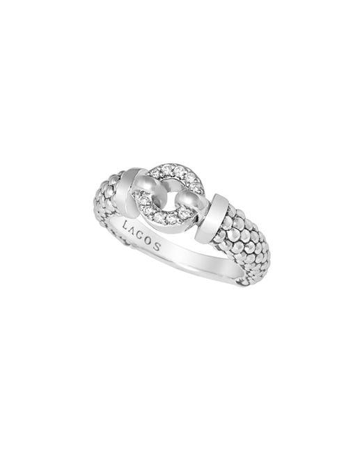 Lagos | White 8mm Enso Diamond Ring | Lyst