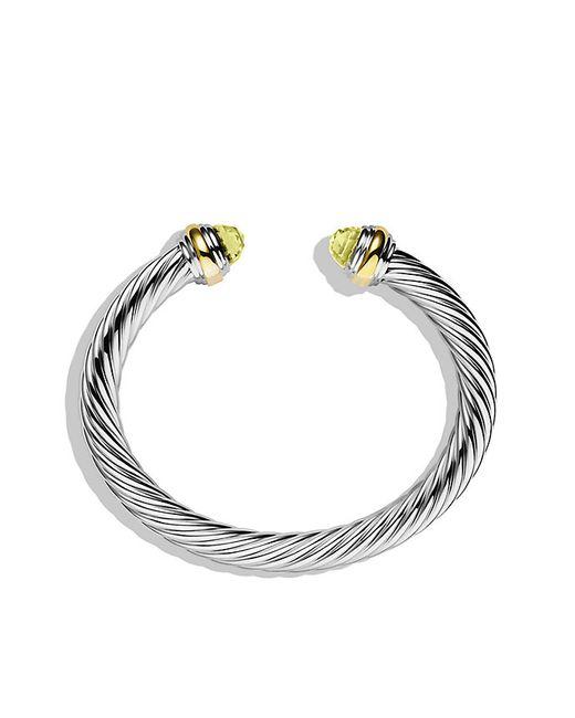 David Yurman | Yellow Cable Classics Bracelet With Lemon Citrine And 14k Gold, 7mm | Lyst