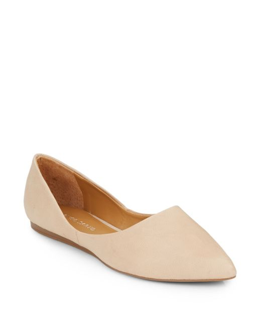 Franco Sarto | Natural Heath Leather Point Toe Flats | Lyst