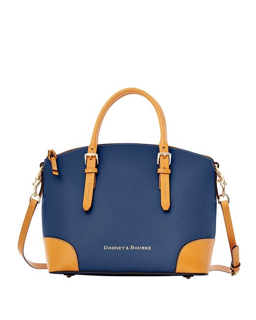 Dooney & Bourke | Blue Claremont Leather Dome Satchel Bag | Lyst