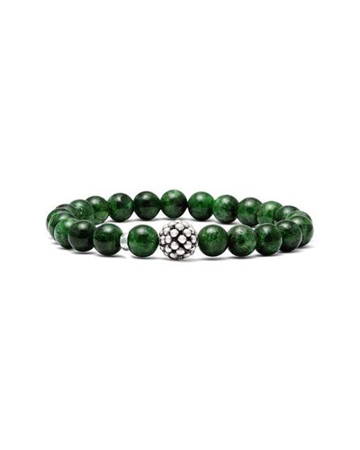 Lagos | Green Bead Stretch Bracelet | Lyst