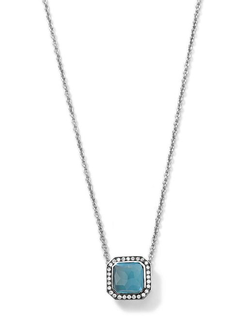 Ippolita | Metallic 'wonderland' Large Teardrop Pendant Necklace - Sterling Silver- Clear Quartz (nordstrom Exclusive) | Lyst