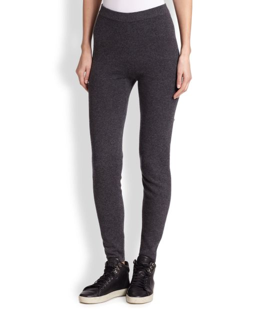 Saks Fifth Avenue | Gray Cashmere Track Pants | Lyst