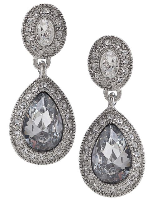 Carolee | Metallic Earrings, Crystal Drop | Lyst