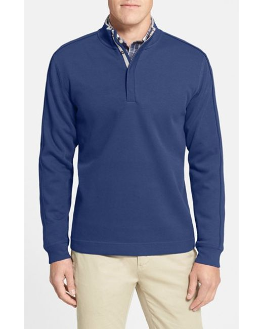 Cutter & Buck | Blue 'fulltime' Pima Cotton Pullover for Men | Lyst