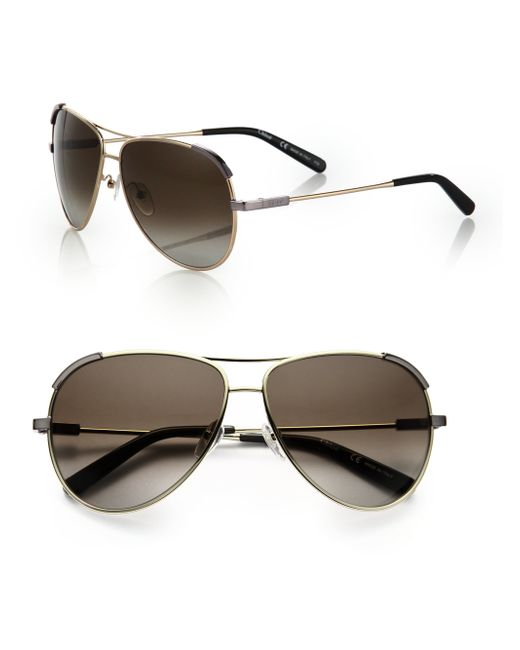 Chloé | Metallic Eric 60mm Aviator Sunglasses | Lyst