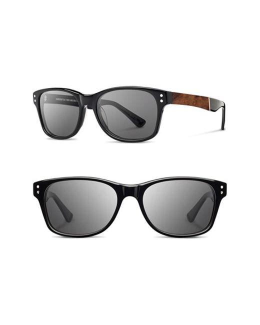 Shwood | Black 'cannon' 54mm Sunglasses for Men | Lyst