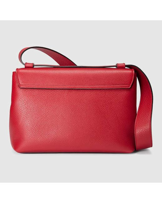 dabdb134a2194 Gucci Gg Marmont Leather Shoulder Bag in Red (red leather)