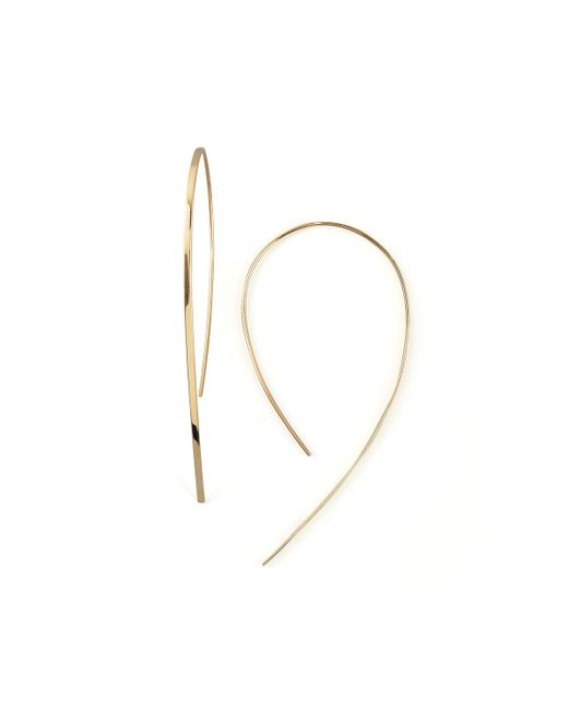 Lana Jewelry | Metallic Small Flat Hook-on Hoop Earrings | Lyst