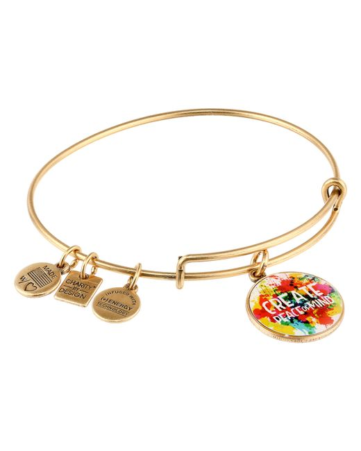 ALEX AND ANI | Red Peace Of Mind Charm Bangle | Lyst