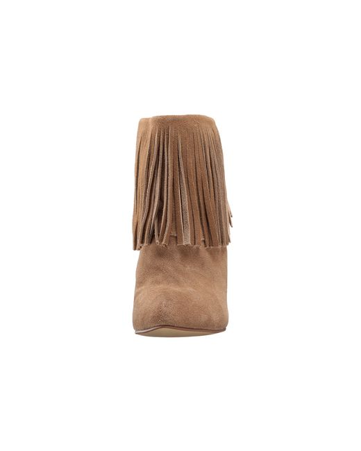 Chinese Laundry | Natural Arctic Fringe Wedge Bootie | Lyst