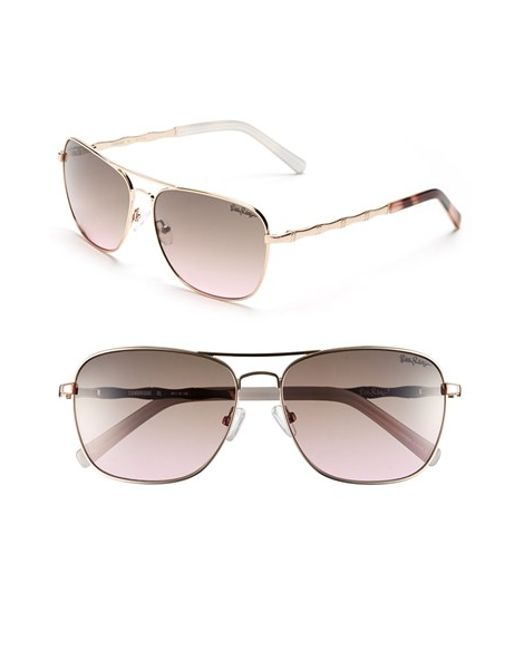 Lilly Pulitzer | Pink Lilly Pulitzer 'cambridge' 59mm Aviator Sunglasses | Lyst