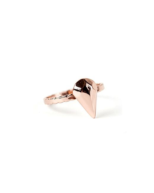 Bing Bang | Pink Diamond Teardrop Ring | Lyst