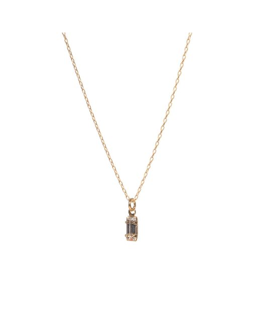 Bing Bang | Metallic Tiny Baguette Necklace | Lyst