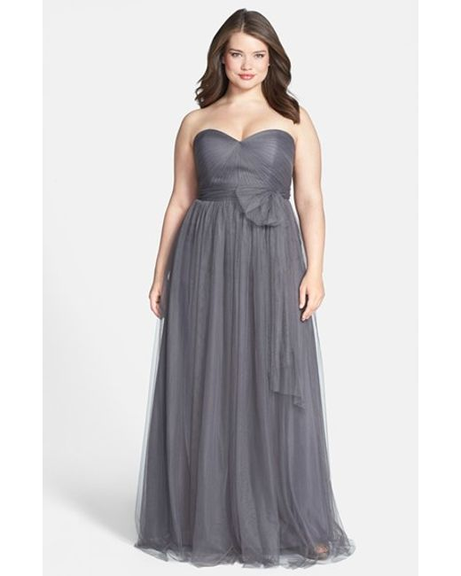 Jenny Yoo | Gray 'annabelle' Convertible Tulle Column Dress | Lyst