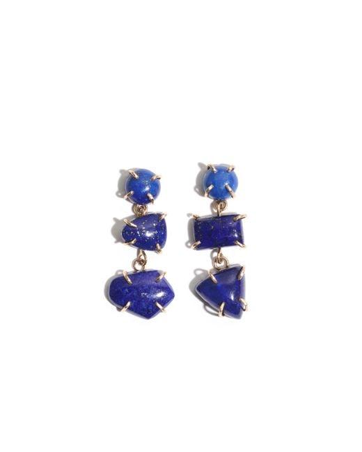 Melissa Joy Manning   Blue Lapis Three Drop Earrings   Lyst