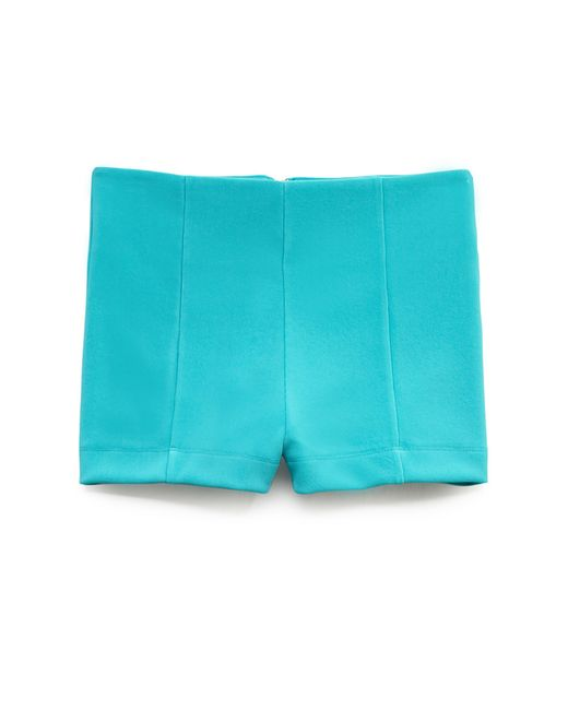 Forever 21 | Blue Bold High-waisted Shorts | Lyst
