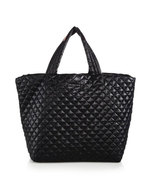 MZ Wallace | Black Metro Large Quilted Nylon Tote | Lyst