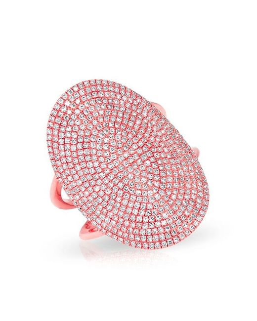 Anne Sisteron | Pink 14kt Rose Gold Diamond Oval Armor Ring | Lyst